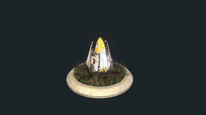 Horizon: Zero Dawn - Metal Flower FanArt 3D Model