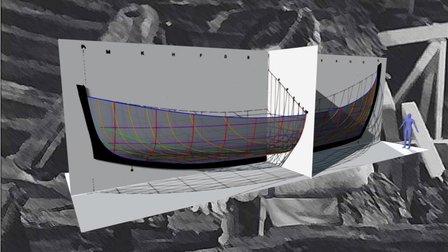 Kyrenia Ship Hull Lines by J. Richard Steffy 3D Model