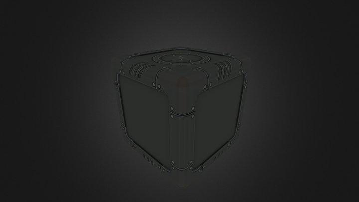 Crate Scifi 2- F B X 3D Model