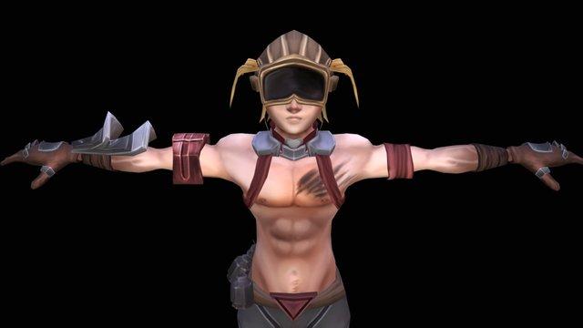 Desert Dweller (T-Pose) 3D Model