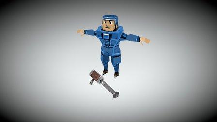 Oceania Grunt Soldier 3D Model