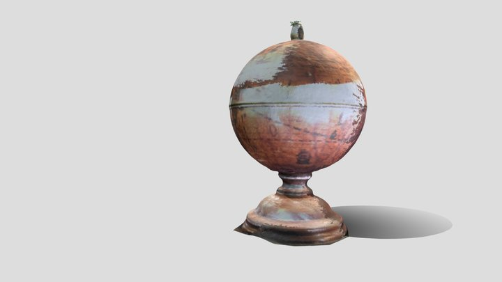 Antique Globe Humidor 3D Model