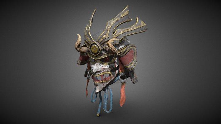 Samurai Helmet 3D Model