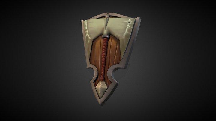 Fantasy decorative shield 3D Model