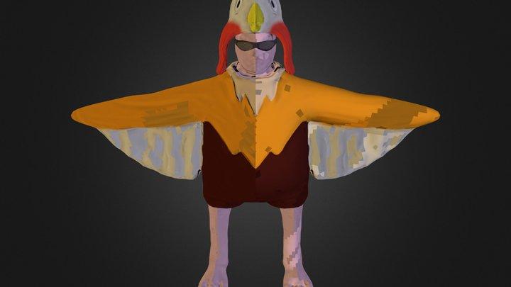 Birdman Low Poly 3D Model