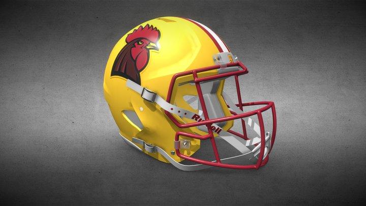 RI Reds Helmet 3D Model