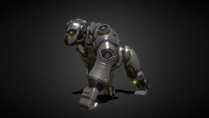 Gorilla Walk Cycle Animation 3D Model