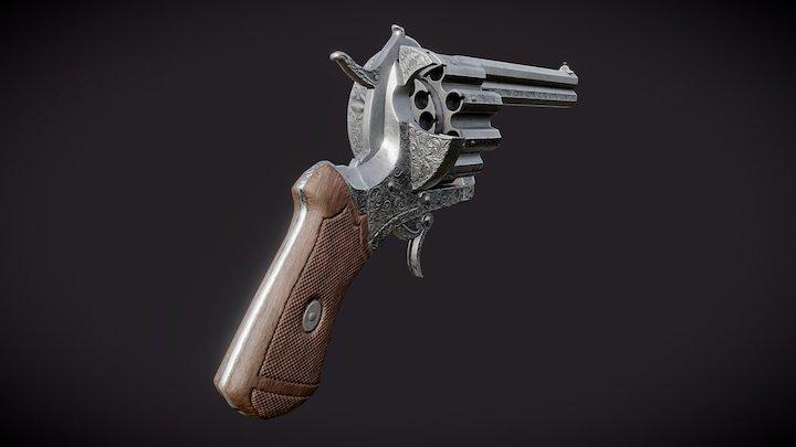 20-Round Revolver (Updated Textures) 3D Model