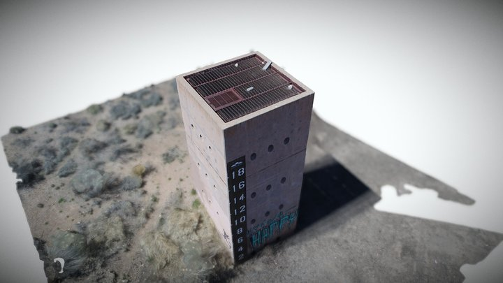 north domingo baca park overflow tower 3D Model