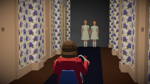 The shinning twins low poly 3D Model
