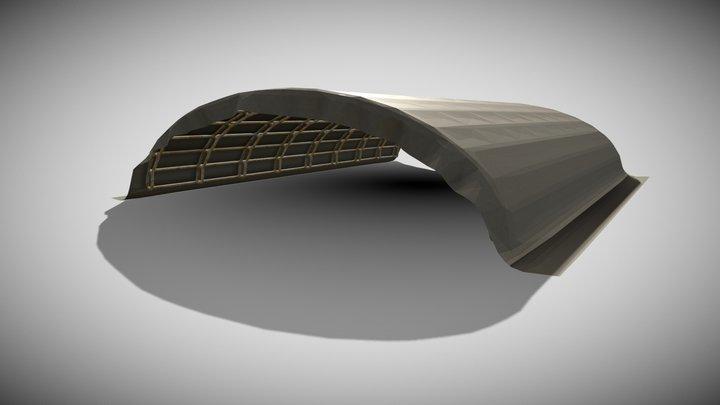 Military tent hangar. 3D Model