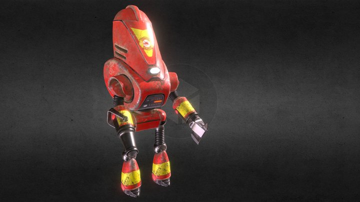 Protectron Firefighter old 3D Model
