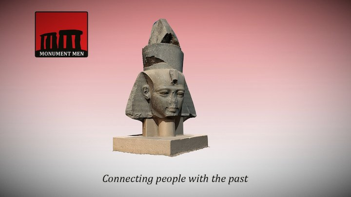 Granite Head of Ramesses II (Ramesseum, Luxor) 3D Model