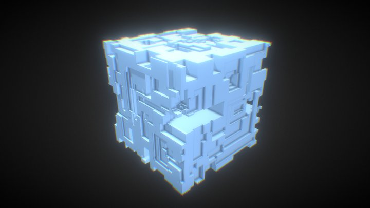 Voxel Cube - Placeholder 3D Model