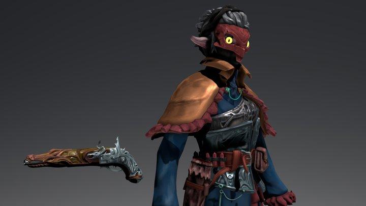 Crystal Gunslinger 3D Model