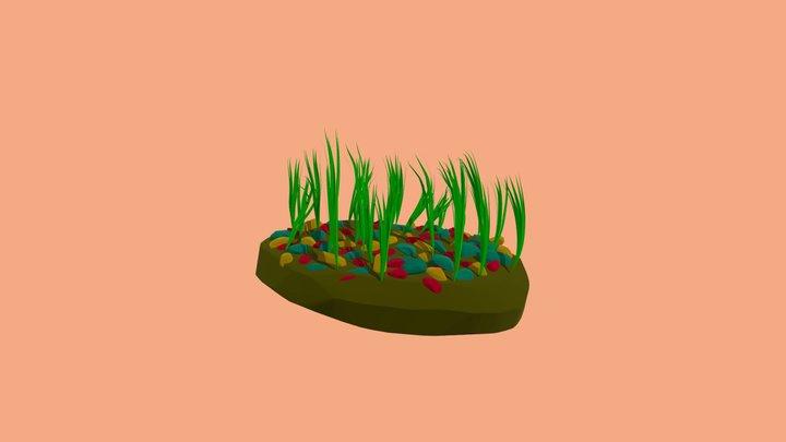 Rocks and shrubs 3D Model