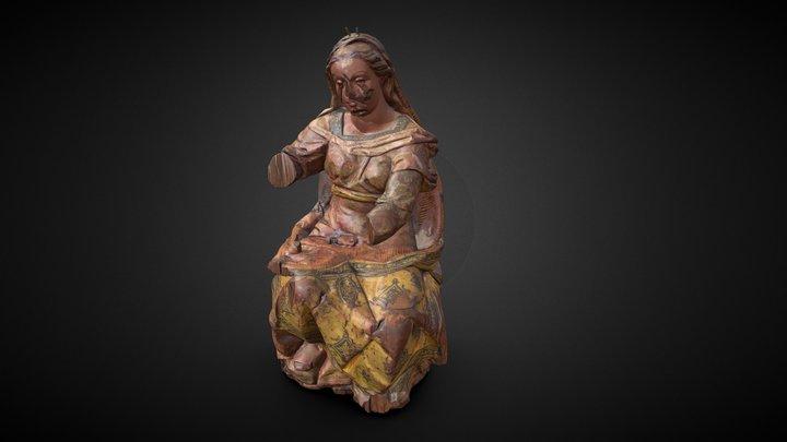 "Virgen Nuestra Señora ""Vulnerata"" 3D Model"
