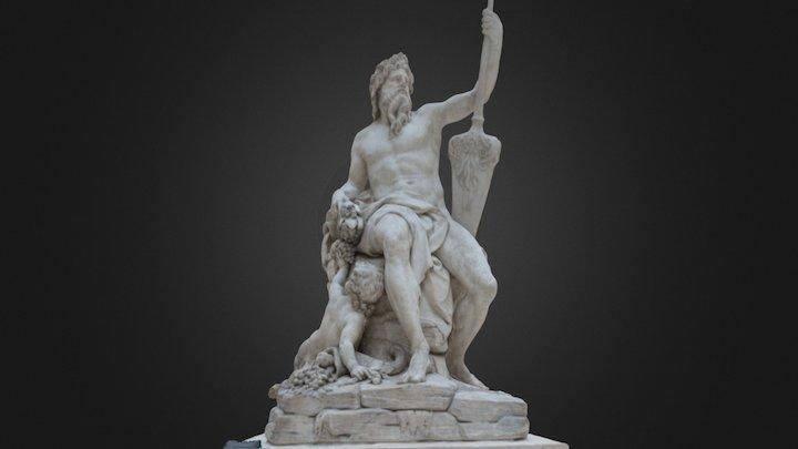 La Seine - Louvre Museum 3D Model
