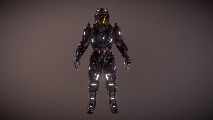 2070s Planet Colonization Suit 3D Model