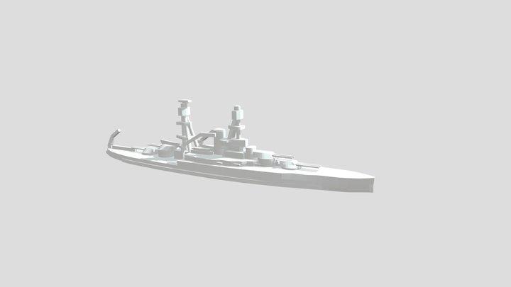 USS Nevada - Model for 1/4000 printing 3D Model