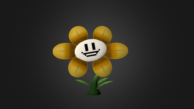 Flowey the flower 3D Model