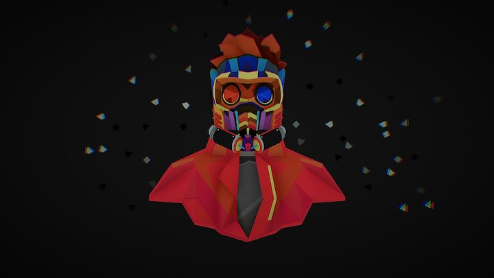Cosmo Knight (Star-Lord) 3D Model