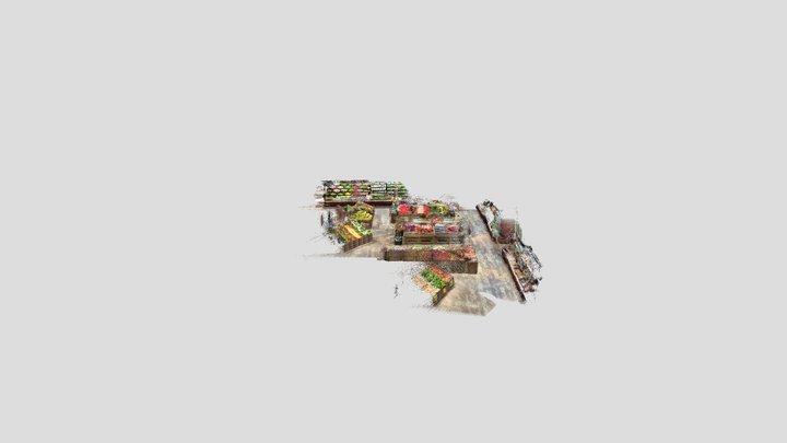 Supermarket Produce Aisle - SiteScape Scan 3D Model