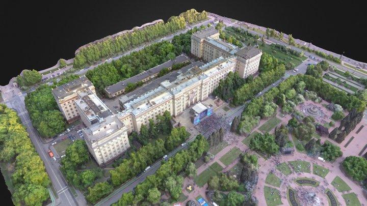 Физфак МГУ в День Физика 2015 3D Model