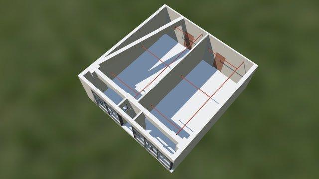 万达b座1210-1211 3D Model