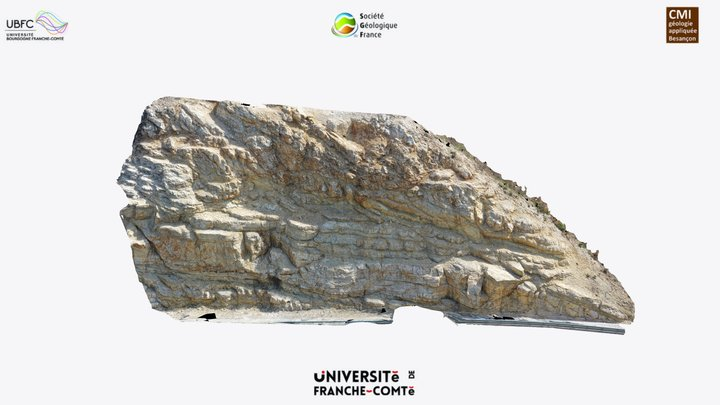 Hanging-wall syncline hinge 3D Model