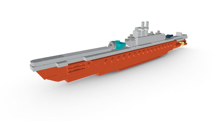 LEGO® IJN I-400 Submarine MOC 3D Model
