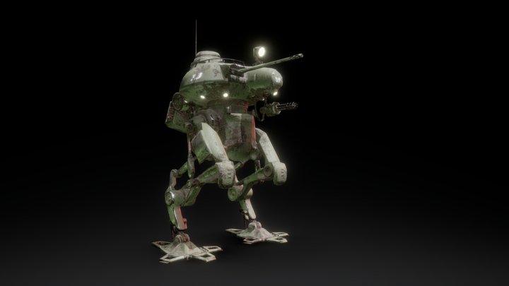 No.39 Walking Tank 3D Model