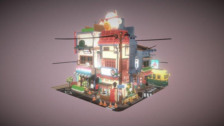 Bright Little Tokyo 3D Model