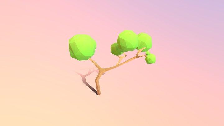 Low-poly Bonsai Tree 3D Model