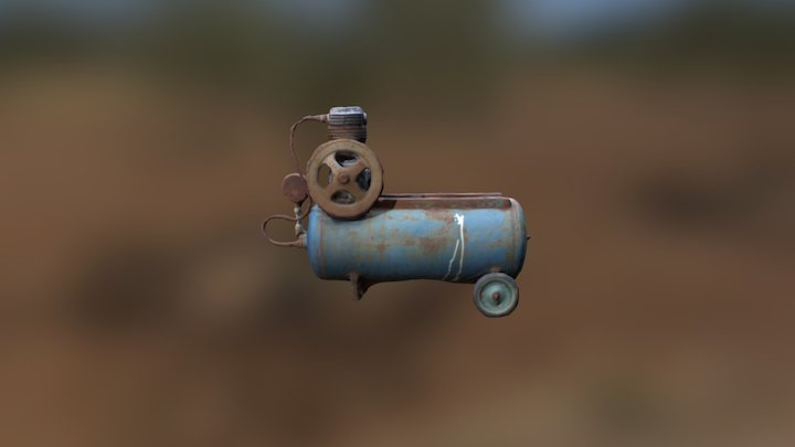 An old air compressor 3D Model