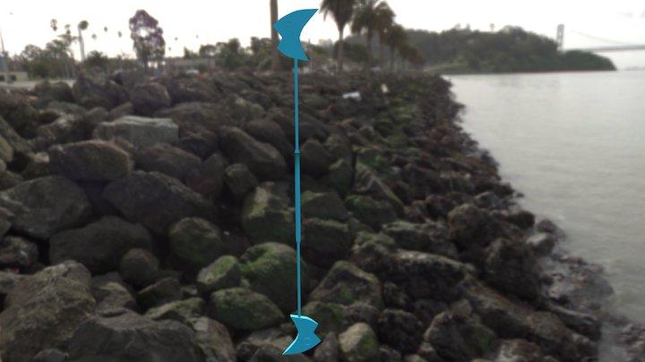 Fishy Dual Blade Staff 3D Model