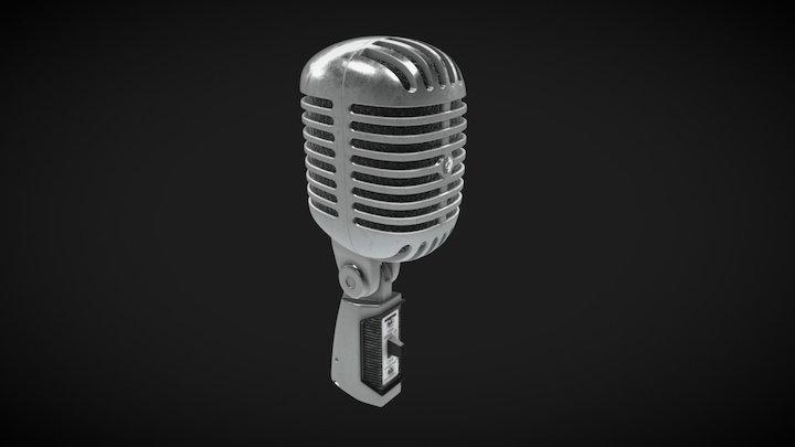 Shure 55SH Series II Microphone 3D Model