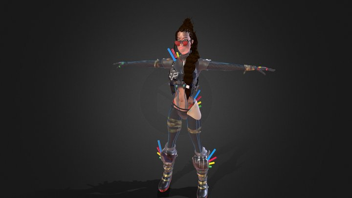 Xarah Nocturnal Party Girl Character model 3D Model