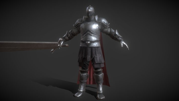 Giant Sword Knight(Full Rigged, Game Ready) 3D Model