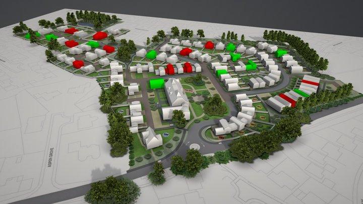 LOD1 3D site plan - residential 3D Model