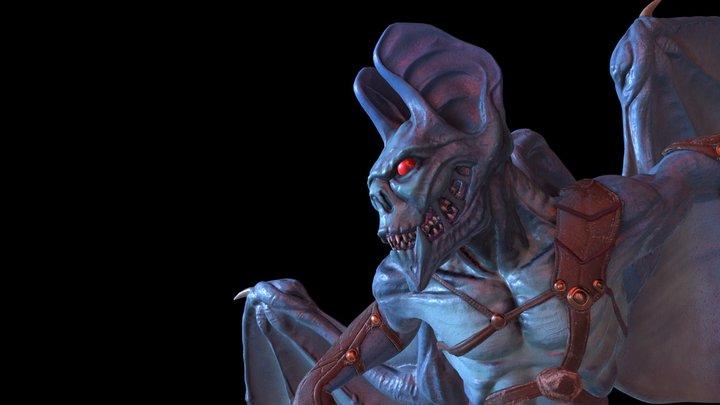 Renwa Bat Alien 3D Model