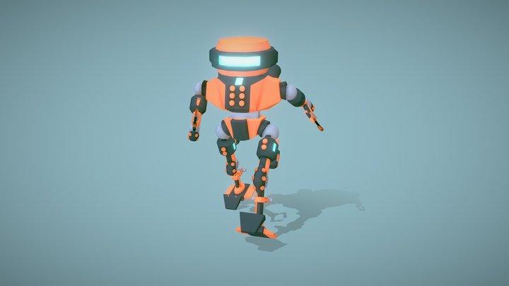 Robot walk animation 3D Model