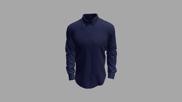 Shirt Blue 3D Model