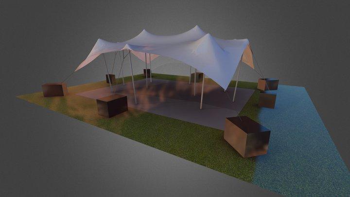 Single Stretch Tent 3D Model