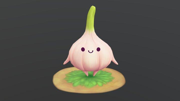 Chibi Garlic 3D Model