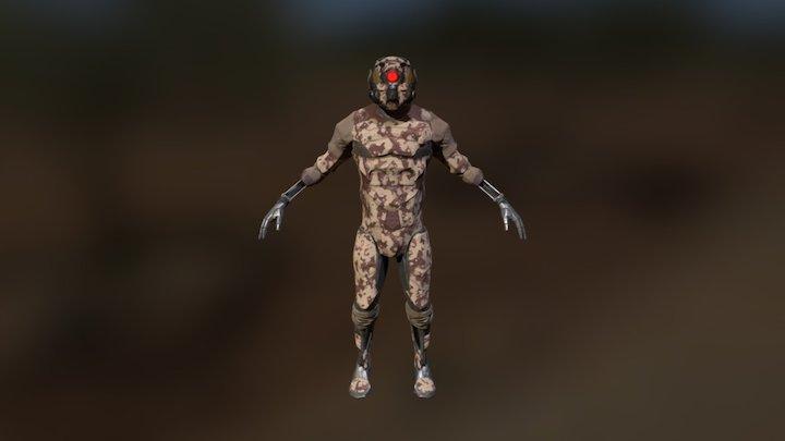 Cyborg Soldier V1 3D Model