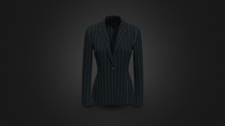 ONE BUTTON JACKET 3D Model