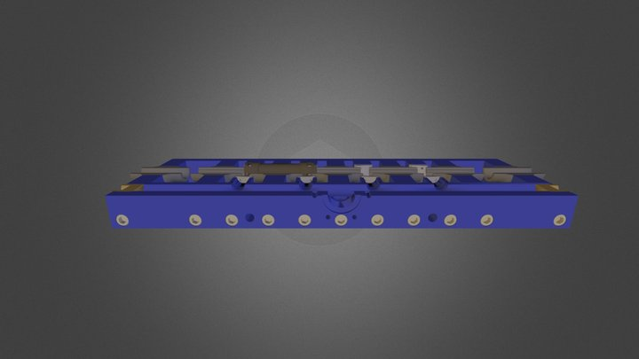 Spool Washer High Pressure Cutaway 3D Model