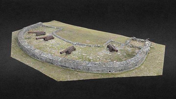 First artillery battery at the Maldonado Bay 3D Model