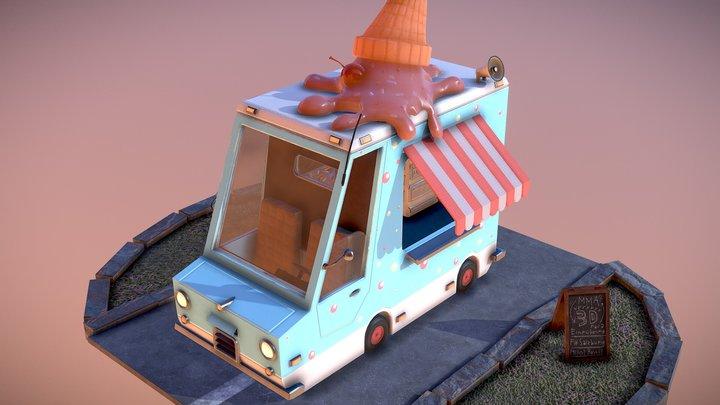 FHS Ice Cream Truck 3D Model